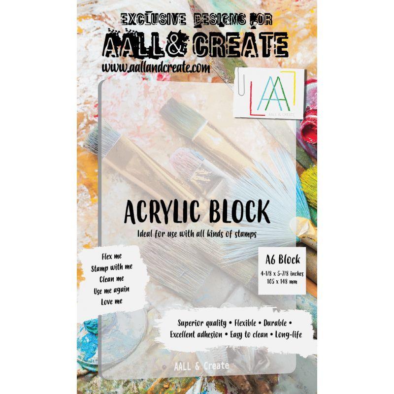 AALL & CREATE Acrylic Bloc A6