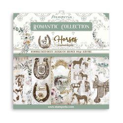 Stamperia - Romantic collection - Horses (20,3 x 20,3 cm)