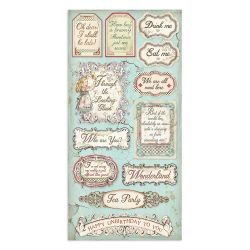 Stamperia Alice Backgrounds Selection (20,3 x 20,3) cm