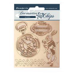 Stamperia Decorative Chips Alice in Wonderland