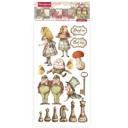 Stamperia Chipboard 15x30cm Alice Through the Looking Glass