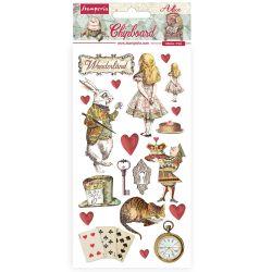 Stamperia Chipboard 15x30cm Alice In Wonderland