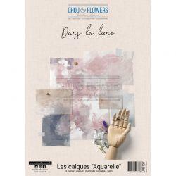 Chou & Flowers –  Collection Papier Calque Aquarelle A4 Dans La Lune