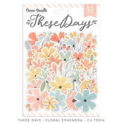 """Die cut fleurs- Collection """"These Days"""" - Cocoa vanilla"""