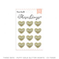 """Puffy hearts -Collection """"These Days"""" - Cocoa Vanilla"""