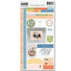 Les Ateliers De Karine - Cahier d'Automne - Stickers 15 x 30 cm