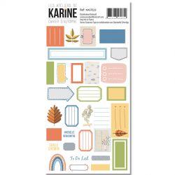 Les Ateliers De Karine - Cahier d'Automne - Stickers - Etiquettes
