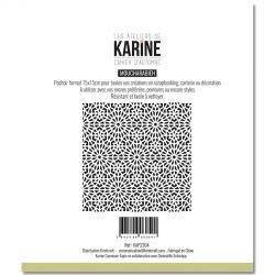 Les Ateliers De Karine - Cahier d'Automne - Moucharabieh Pochoir