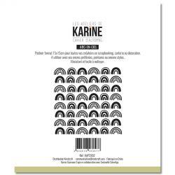 Les Ateliers De Karine - Cahier d'Automne - Arc en Ciel Pochoirs