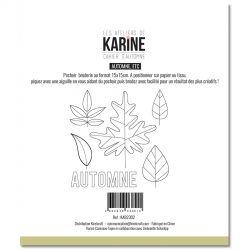 Les Ateliers De Karine - Cahier d'Automne -Automne etc.. Pochoir Broderie- Arc en Ciel Pochoirs
