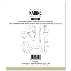 Les Ateliers De Karine - Cahier d'Automne -Automne etc.. Pochoir Broderie- Arc etc ..Pochoir Broderie