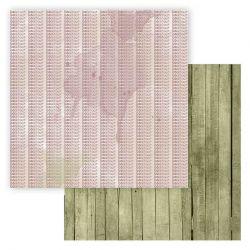 Lorelaï Design - Bloom Feuille 12 R/V ( 30,5 x 30,5 cm)