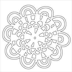 TCW Loopy flower Fragment 10X10