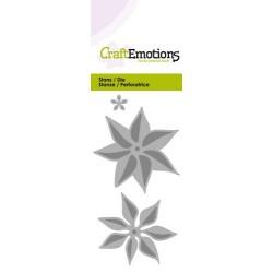 CraftEmotions Die - fleur poinsettia 3D Card 5x10cm