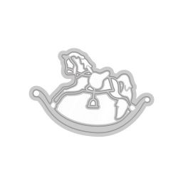 Tonic Studios Die - Rococo petite - rocking horse