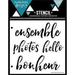 Florilèges D. Pochoir Quatre mots