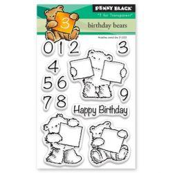 Penny Black Mini Clear Set Birthday Bears