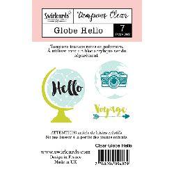 Swirlcards Clear Globe Hello (7pc)