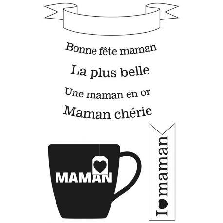 Artemio Clear Bonne fête Maman 9x14 cm