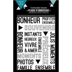 Florilèges Design plaque d'embossage Vivre et aimer