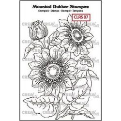 Crealies Mounted Rubber Stampz no. 7 Sunflower