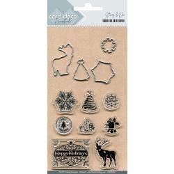 Find It Trading Card Deco Stamp & Die Set Happy Holidays