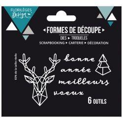 Florilèges Design Die Cerf Géométrique