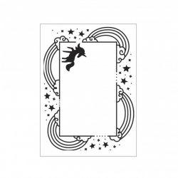 Darice - Plaque d'embossage Licorne (unicorn) et arc-en-ciel