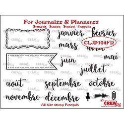 Crealies Clear Journalzz & Plannerzz Les mois en français
