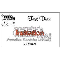 Crealies text die Invitation