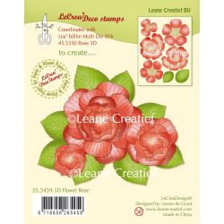 Lecrea'Deco Stamps 3D Flower Rose Clear