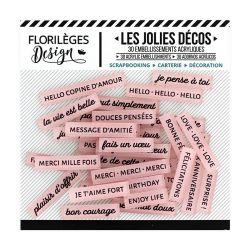 Florilèges D. Les jolies décos Rose Thé