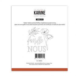 Les Ateliers de Karine Esprit Bohème Pochoir broderie Famille etc...