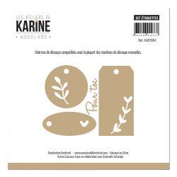 Les Ateliers de Karine - Woodland Dies Etiquettes