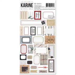 Les Ateliers de Karine Woodland Stickers etiquettes