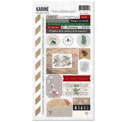 Les Ateliers de Karine Woodland Stickers 15 x30