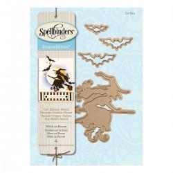 Spellbinders Witch On Broom...