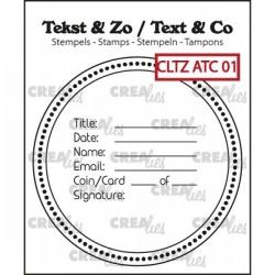 Crealies Tekst & Zo Clear...