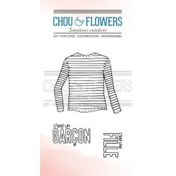 Chou & Flowers Fond coeur...